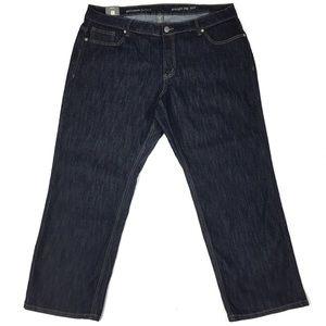 Avenue Petite Stretch Dark Wash Straight Leg Jean